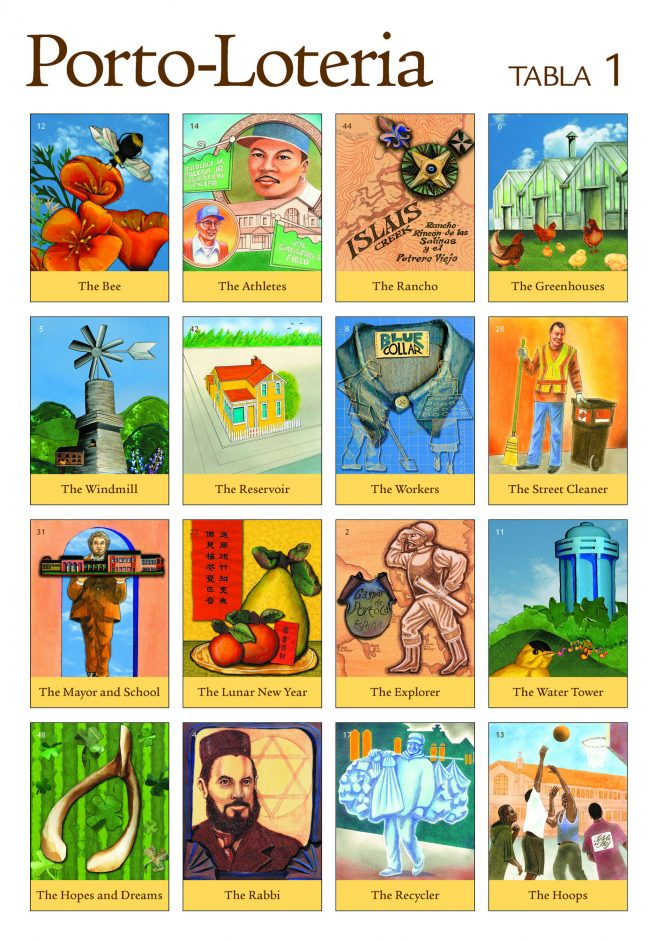 The first of 10 Porto-Lotería Tablas/Game Boards