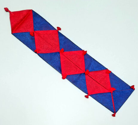Red and Blue silk sleeve for wedding money gifts